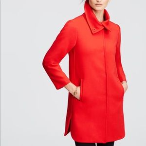 New Ann Taylor Red Statement Coat Sz M